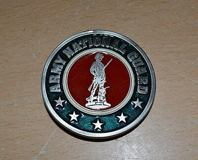 Army National Guard Belt Buckle Pewter & Enamel