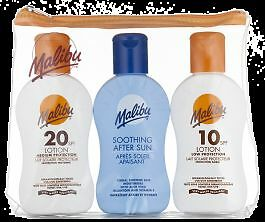 Malibu Travel Pack Sun Lotion SPF 10, 20 And After Sun 100ml