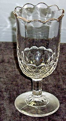 """EAPG """" Honeycomb """" celery by  Bakewell.,Pears Company 2 mold clear glass    1864"""