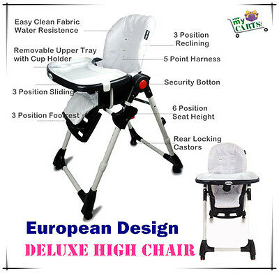 FreePostage New Elite Baby Comfortable High Chair Highchair Feeding Kids Toddler