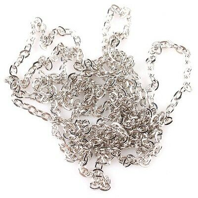 10m New Plating Plated Rhodium 0.6 Flat-Pressing Charms Iron Chain Findings C