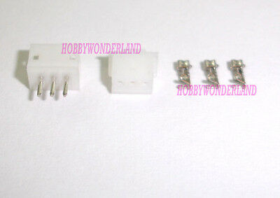 Micro JST ZH 1.5mm 3-Pin Male Female housing Connector plug & crimps x 50 SETS