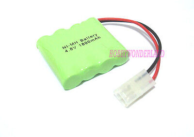 4.8V 4-Cell Ni-MH 1800mAh AA 1*4 Battery Pack w/. Tamiya for RC Boat Car Truck