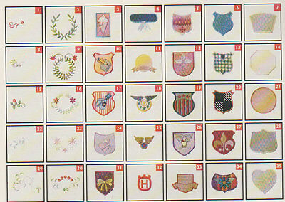 Husqvarna EMBROIDERY DISC 6,APLIQUE CRESTS & MORE Sewing for Designer 1 & PC.