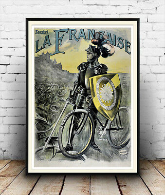 Old Cycling Advert Poster reproduction La Francaise