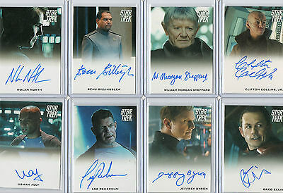 2009 2014 Star Trek Movies Autograph & Costume Relic Card Selection NM