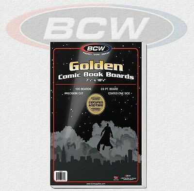 BCW - 100 Golden Comic Book Backing Boards 24 PT. NEU! OVP!
