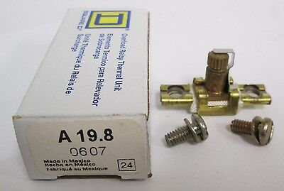 (2) Square D A19.8 Overload Relay Thermal Unit