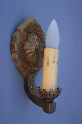 1 Of 3 1920s Antique Sconce Lights Fits Deco Spanish Tudor Storybook (2179)