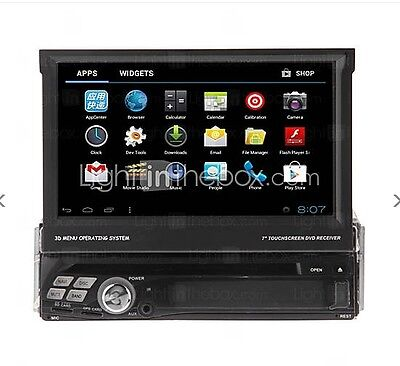 """7"""" 1 Din Touch In Dash Android 4.0 Wifi 3G Car DVD Player Stereo GPS Headunit"""