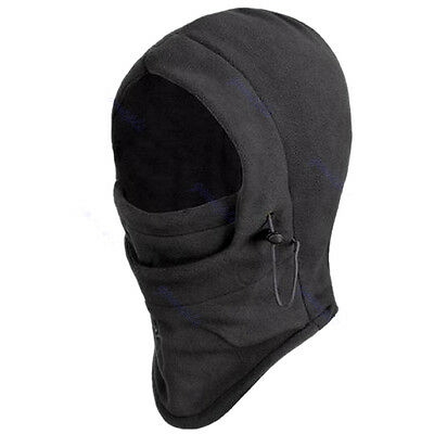 Face Mask 6 in 1 Thermal Fleece Balaclava Hood Police Swat Ski Bike Wind Stopper