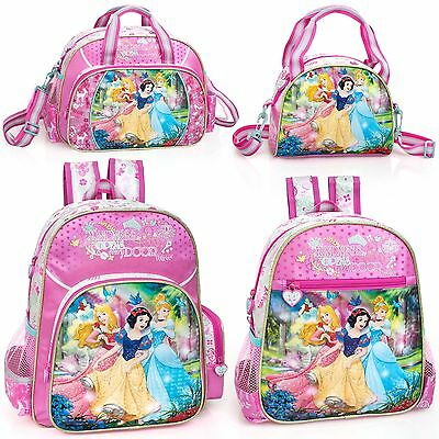 Disney Princess Cinderella Backpack Rucksack Bag Frozen Lunch Bag Girls School