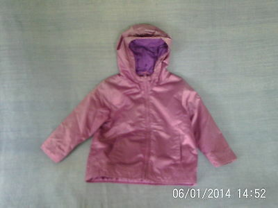 Girls 3-4 Years - Purple Hooded Lined Rain Coat - Marks & Spencers