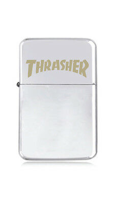 ★STAR★ engraved LIGHTER silver black pink gold THRASHER Skate MAG stoner skater