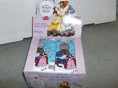 1X 1992 Pro Set BEAUTY and The BEAST PACK : Disney : Bulk Lot available