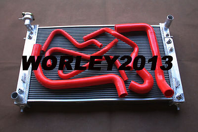 Aluminum radiator + Red silicone hose for  Commodore VT VX  V6 3.8 1997-2002