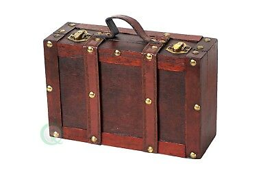 New Vintiquewise Old-fashioned Small Suitcase with Straps, QI003053