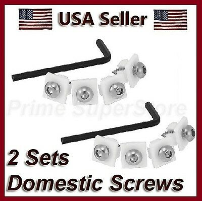 Anti-Theft License Plate Frame/cover Domestic Metal Fasteners Screws Snap In Car