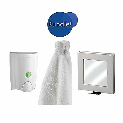 Better Living Products BU93209 B.Smart Soap Dispenser, Anti-Fog Mirror, and Towe
