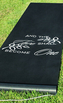 Hortense B Hewitt Black Two Become One Aisle Runner 30046 New