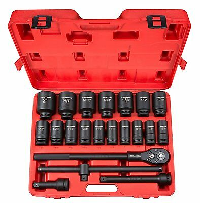TEKTON 48995 3/4 In. Drive Deep Impact Socket Set Cr-mo 22-piece Pro Grade