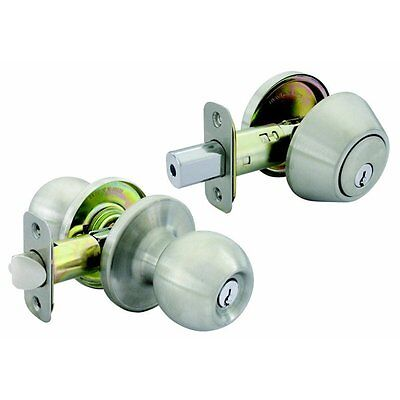 Gatehouse B36W1 Saturn Stainless Steel Round Residential Keyed Entry Door Knob