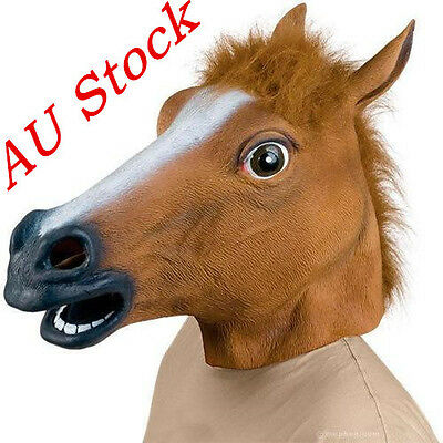 Halloween Party Horse Head Mask Latex Animal Costume Prop Gangnam Style Toys
