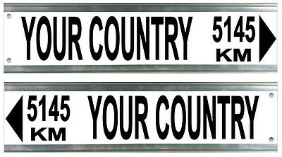 Street Sign - Custom Street Sign Distance to Country Landmark Location 4