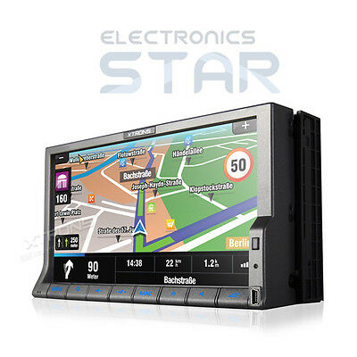 """7"""" HD Touchscreen GPS Bluetooth iPod MP3 SD USB Double Din DVD Player Car Stereo"""