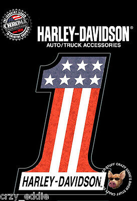 Sheet Of Two (2) Harley Davidson Usa-1 Holographix Decals Usa Number One Decal
