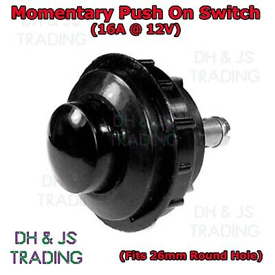 Heavy Duty Momentary Push On Button Start Switch 16a 12v Vandal Resistant 6