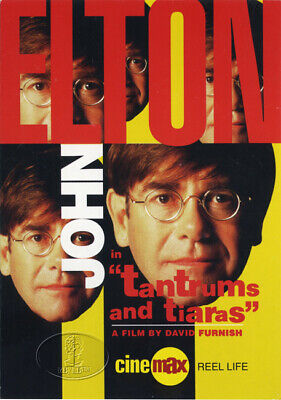 ELTON JOHN Tantrums and Tiaras Souvenir Postcard