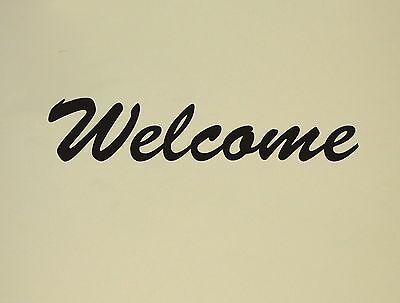 Welcome Wall Decal Removable Sticker Decor Accent Quote Words Mural Entrance Part 98