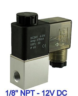 "1/8"" Inch Fast Closing Air Water Electric Solenoid Valve Normally Closed 12V DC"