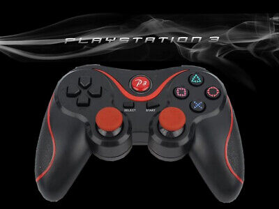 Black+Orange Wireless Bluetooth Controller Remote Gamepad for Playstation 3 PS3