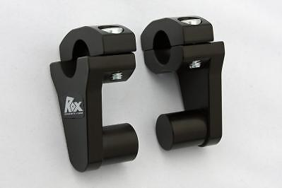 Black Rox Risers for 22mm bars, BMW, KTM, Triumph, Honda Suzuki, Yamaha 1R-P2SS