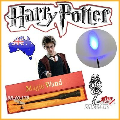 Hogwarts Wizard Harry Potter Magic Wand LED Light Up Wand In Box (Free Tattoo)