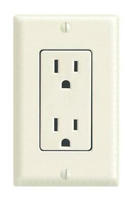 Leviton C26-05675-00T Duplex Receptacle With Matching Wall Plate