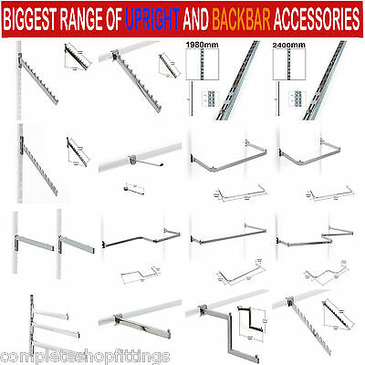 New Garment Rail Twin Slot Upright Clothes Display And Shelving Budget System