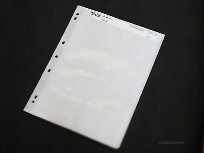 new 15 page NEGATIVES FILM SLEEVES ARCHIVAL STORAGE SHEETS for 120 film