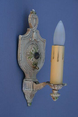 1 Of 2 1920s Spanish Revival Sconce Light Lamp Antique Lantern Tudor (2226)