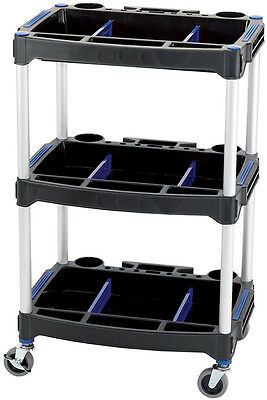 Draper 3 Tier Workshop Tool & Parts Trolley 04612 - Mechanics Garage DIY Hobby