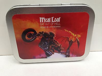 Meat Loaf Rock Music Bat Out Of Hell Cigarette Tobacco Storage 2oz Hinged Tin