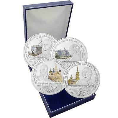 The 2013 400th Anniversary Of The Romanov Dynasty Four Coin Color Set