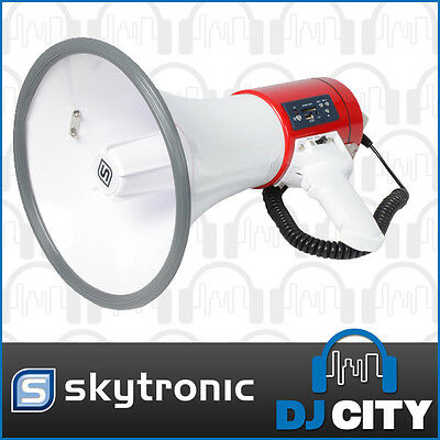 MEGAPHONE Bull Horn 30Watts Siren with USB SD AUX Player RECHARG BATTERY  Han...