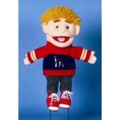 "14"" Yellow Haired Boy In Red/Blue Puppet GL1711 New By Sunny"