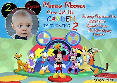 Mickey Mouse Birthday Invitation Minnie Mouse Birthday – Birthday Invitations Mickey Mouse