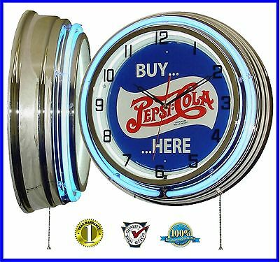 19 Inch Quot Buy Pepsi Cola Here Quot Tin Sign Blue Double