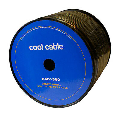 Blizzard Lighting Cool Cable DMX-500 / 500' Bulk spool of Pro 3-Wire DMX Cable