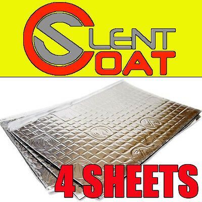 Silent Coat Car Door Boot Deadening Vibration Sound Proofing Damping Mat 4xSheet